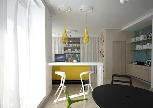 Modern studio apartment for a young girl