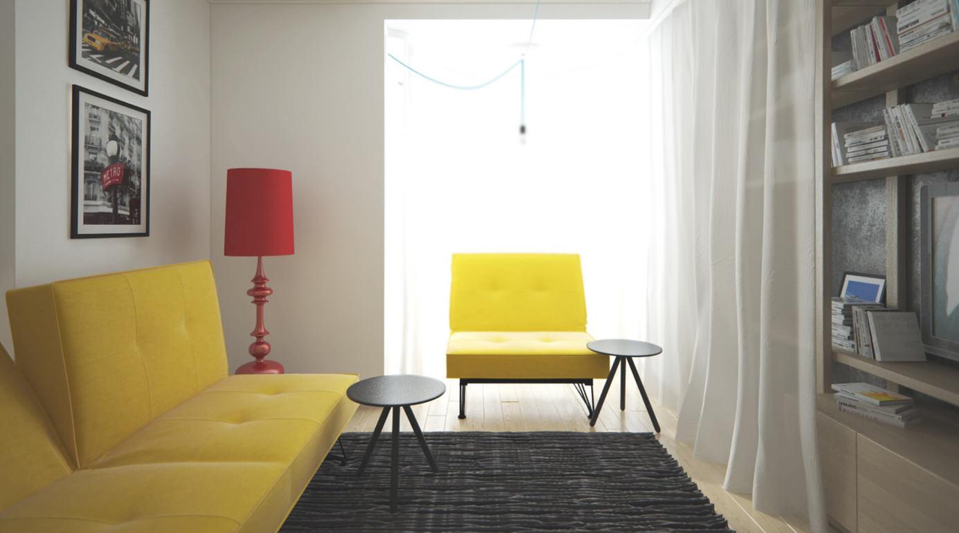 Современная квартира-студия для молодой девушки